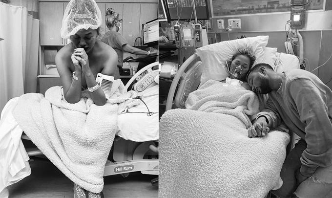 John Legend và Chrissy Teigen suy sụp trong nỗi đau mất con.