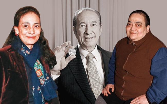 Hà Siêu Hiền (trái), Hà Siêu Hùng (phải), hai người con cả của ông Hà Hồng Sân liên tục đâm đơn ra tòa để dằn mặt các đối thủ.