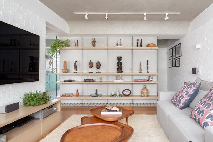 Căn hộ có diện tích 70 m2, được cải tạo bởi Semerene Arquitetura Interior vào năm 2020.