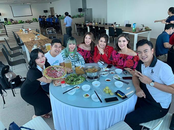Diễn viên Ngọc Lan hội ngộ cùng MC Tuấn Tú, Hoàng Linh.