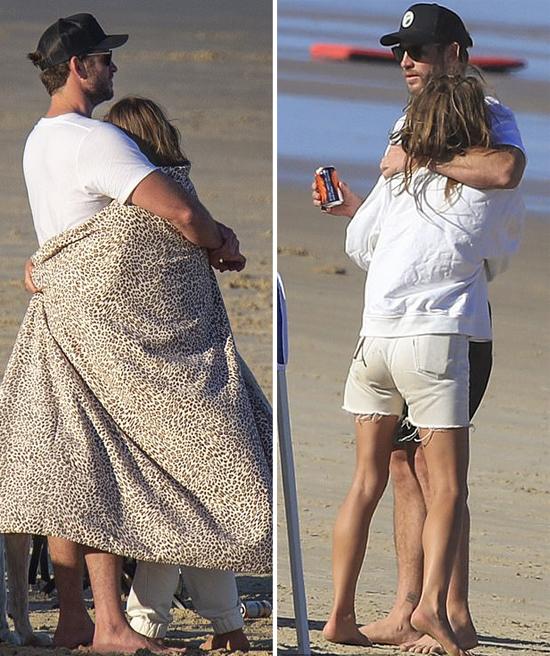 Nam diễn viên The Hunger Games quấn thêm khăn ủ ấm bạn gái.