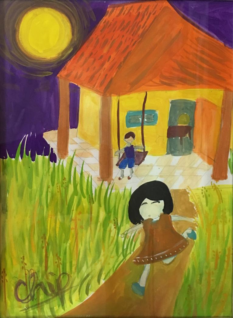 Bảo Linh, 10 tuổi, sống ở thành phố nên luôn mơ ước được về vùng nông thôn chơi với các bạn và hòa mình vào thiên nhiên.