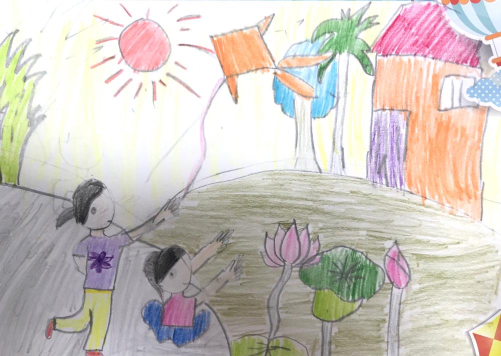 Mong cho thế giới hòa bình Trẻ em được hưởng cuộc đời ấm no Ngày ngày cắp sách tới trường Nụ cười rạng rỡ, ngập tràn niềm vui