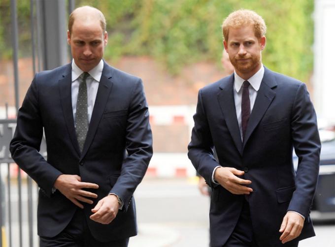 Hoàng tử Harry dự sự kiện cùng anh trai William trước khi rời hoàng gia. Ảnh: AP.