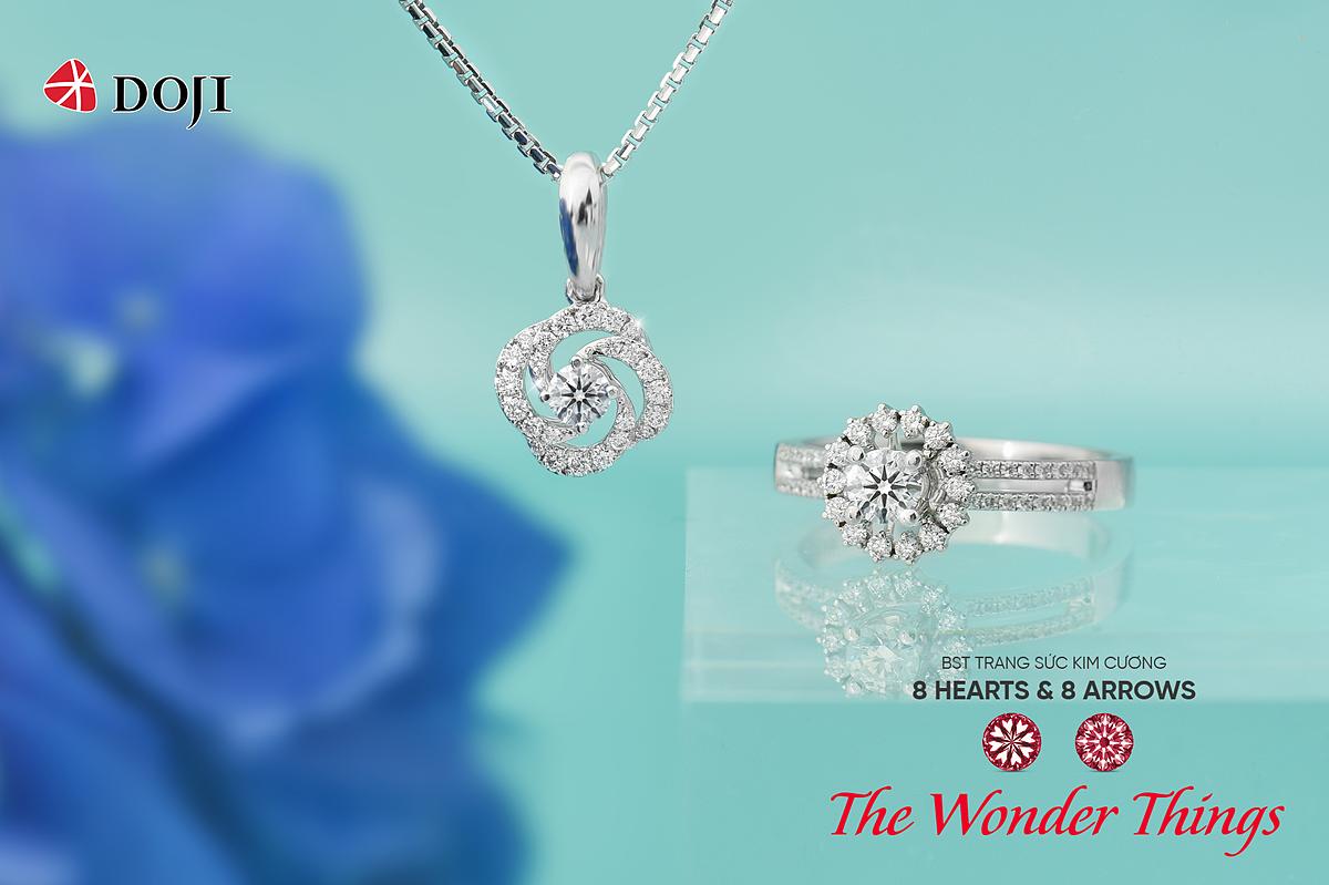 Sự quý giá của kim cương tượng trưng cho vẻ đẹp, phong thái người phụ nữ. Ảnh: DOJI