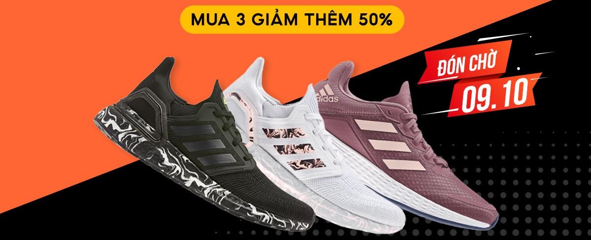 Khách hàng có cơ hội sở hữu các sản phẩm adidas với giá ưu đãi.