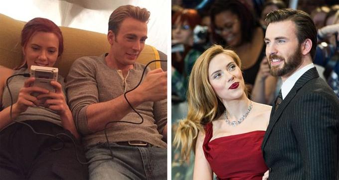 Hai ngôi sao Avengers Scarlett Johansson và Chris Evans là đôi bạn thân cả trên màn ảnh lẫn ngoài đời. Scarlett tiết lộ rằng sở dĩ cô và Evan đóng cặp ăn ý trong loạt phim Marvel là vì họ đã là bạn bè hơn 10 năm. Hai người gặp nhau lần đầu khi đóng cùng trong phim hài The Perfect Score năm 2004 và kết thân từ đó. Góa phụ đen và Đội trưởng Mỹ cảm thấy rất thoải mái khi ở cạnh nhau và thậm chí coi nhau như những người bạn cùng giới.