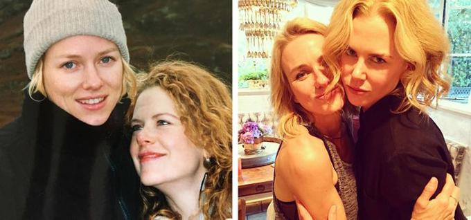 Naomi Watts và Nicole Kidman đã gắn bó với nhau hơn ba thập kỷ. Hai người đẹp Australia đã trợ giúp nhau rất nhiều khi cùng tới Hollywood phát triển sự nghiệp.