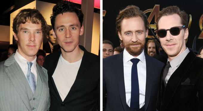 Hai tài tử Tom Hiddleston và Benedict Cumberbatch có lẽ đã rất tiếc khi không gặp gỡ sớm hơn. Từ khi đóng phim War Horse năm 2010, đôi bạn diễn này trở thành bạn thân và họ chưa bao giờ giấu giếm tình cảm quý mến dành cho nhau.