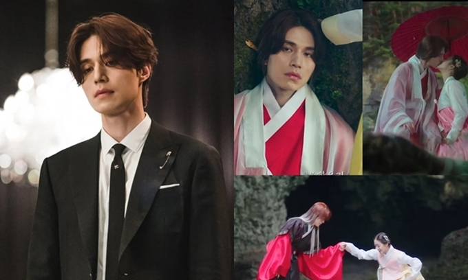 Lee Dong Wook đẹp trai với set đồ hiện đại nhưng bị chê lòe loẹt, nữ tính trong các cảnh quá khứ.