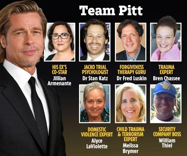 Một số nhân chứng của Brad Pitt.