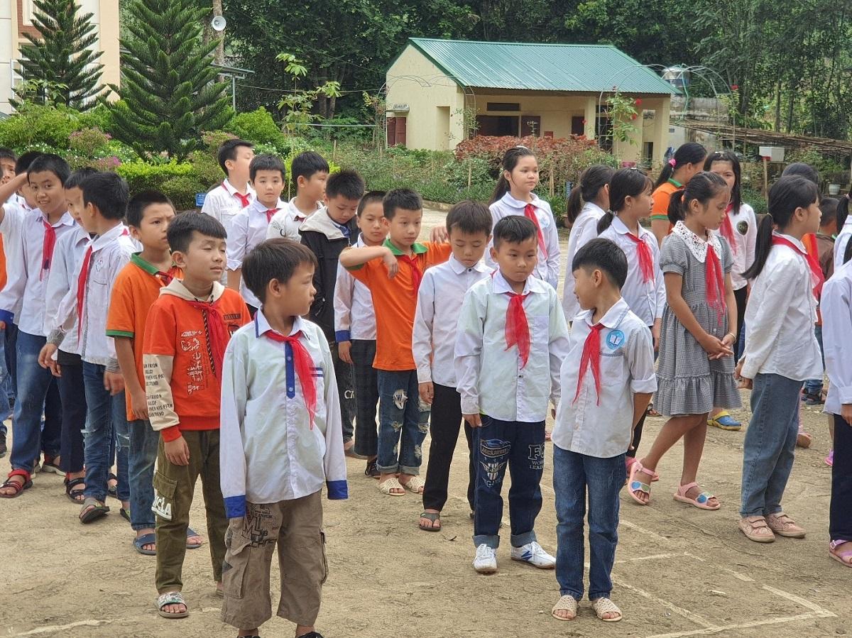 Học sinh Trường tiểu học Na Mèo, xã Na Mèo, huyện Quan Sơn, tỉnh Thanh Hóa.