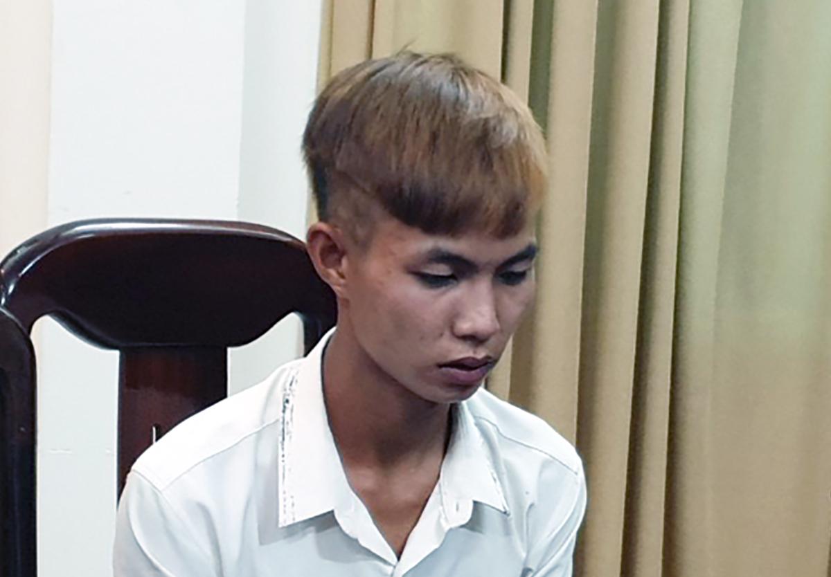 Nguyễn Lâm tại cơ quan điều tra. Ảnh: Công an Phú Yên cung cấp.