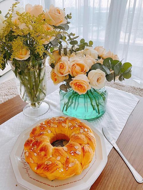 Bánh mỳ hoa cúc là món mà các con của chị rất yêu thích.