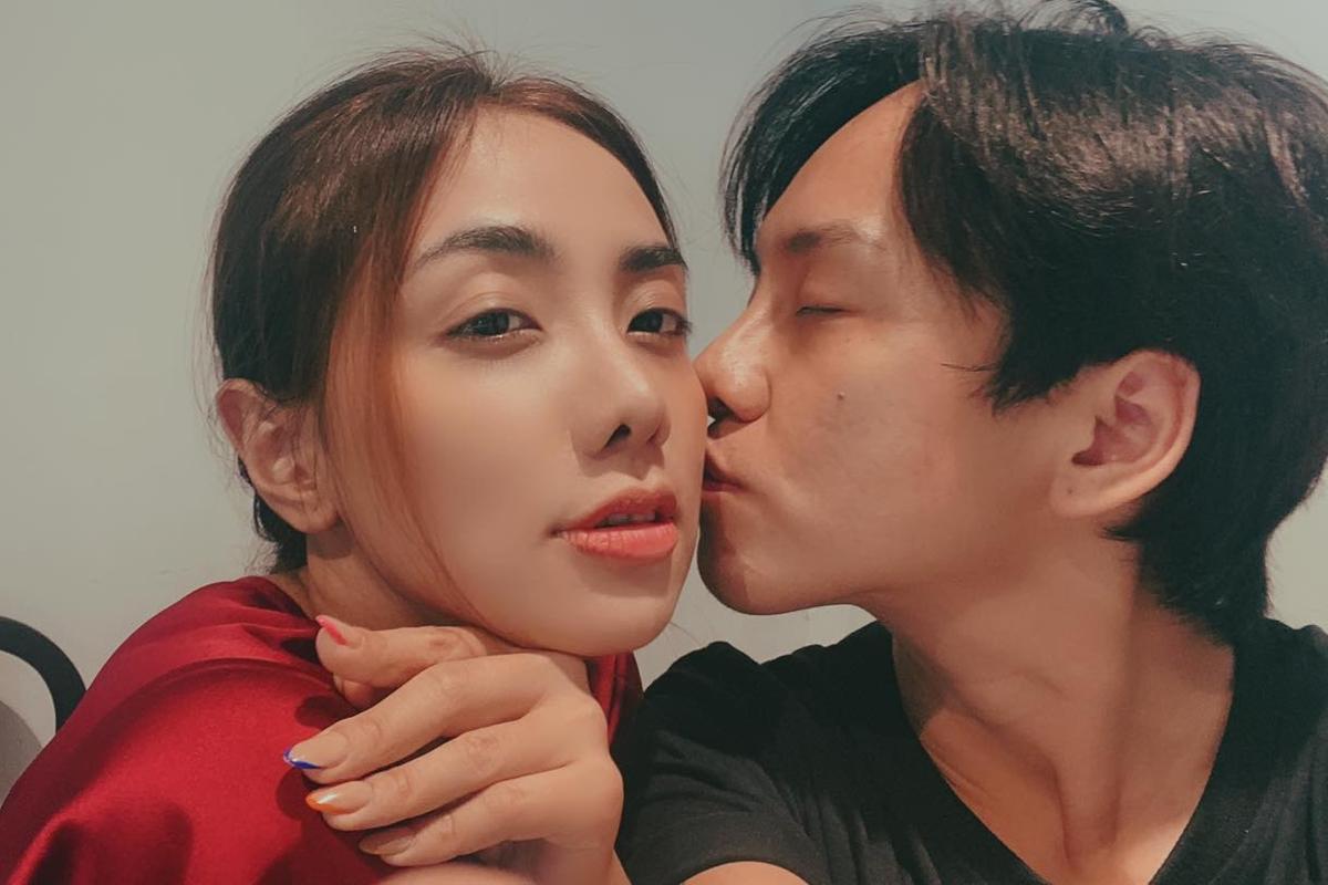 Miko Lan Trinh và bạn trai chuyển giới.