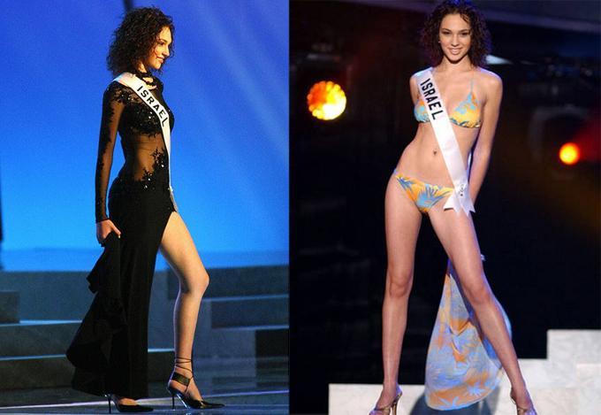Gal Gadot trong chung kết Miss Unvierse 2004 tại Mỹ.