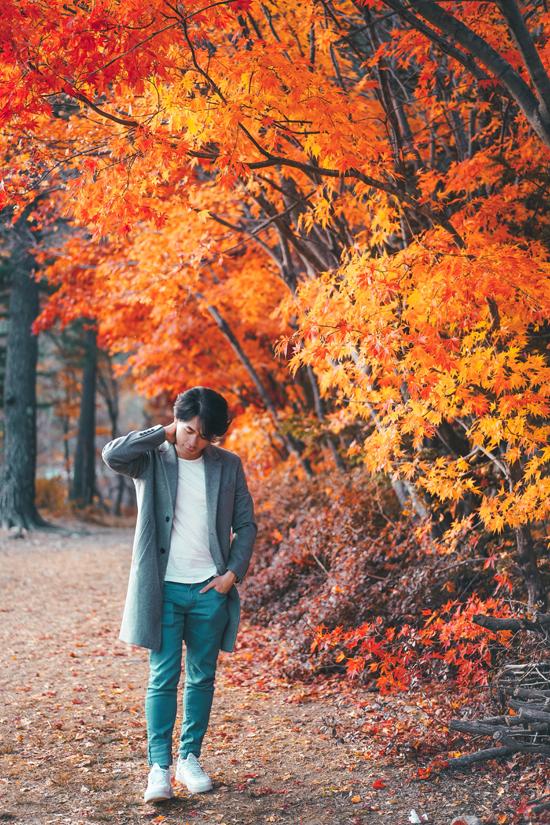 Phan Thế Anh, travel blogger quen thuộc với tên gọi thầy giáo Anh, từng có thời gian học tập ở Hàn Quốc, trước khi về nước trở thành giảng viên đại học. Với anh, Hàn Quốc đẹp nhất vào mùa thu, thời tiết mát mẻ, trong trẻo, những tán lá mùa thu đổi màu tuyệt đẹp. Anh chia sẻ: Mùa thu ở Hàn Quốc như một mùa xuân của lá, khi từng chiếc lá hiện lên như muôn hoa. Người ta có thể chứng kiến khung cảnh hùng vĩ của cách những chiếc lá phong đỏ có hình dạng hoàn hảo rơi nhẹ nhàng xuống mặt đất. Khắp phố xá phủ tấm chăn màu vàng của những chiếc lá cũ tuyệt đẹp.
