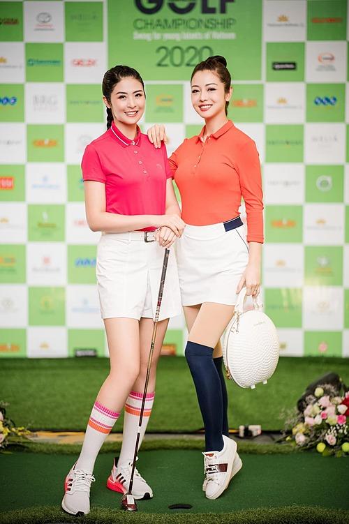 Hoa hậu Ngọc Hân, Jennifer Phạm hào hứng khi tham dự giải đấu golf gây quỹ cho Quỹ hỗ trợ tài năng trẻ Việt Nam