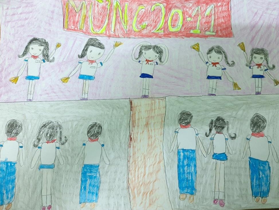 Với bé An Nhiên, trường học là nơi có cô giáo yêu thương như người mẹ hiền. Bé sẽ cố gắng học thật chăm, để được đáp lại công ơn dạy dỗ.