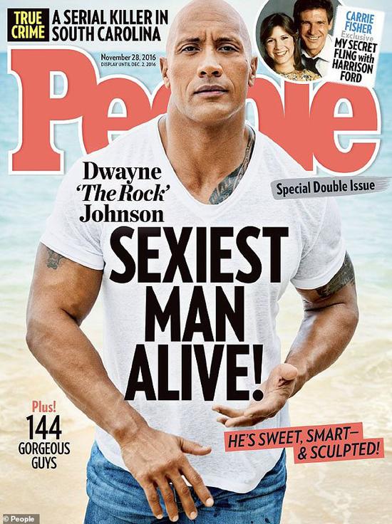 Dwayne Johnson được tạp chí People vinh danh năm 206.