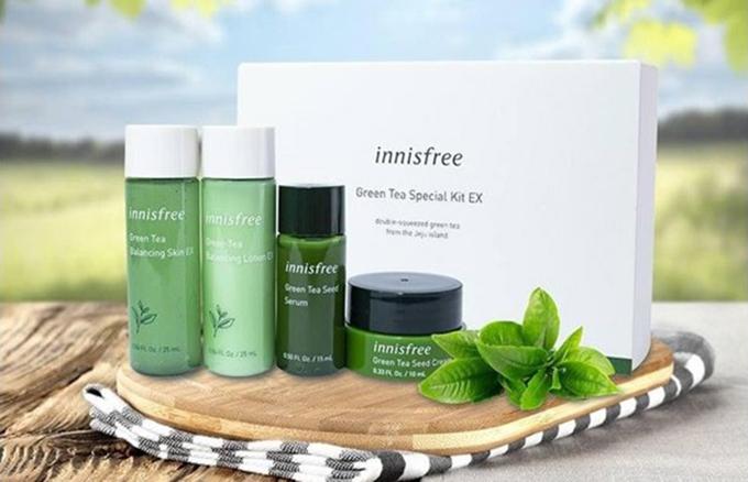Bộ sản phẩm dưỡng da nổi bật từ thương hiệu Innisfree.