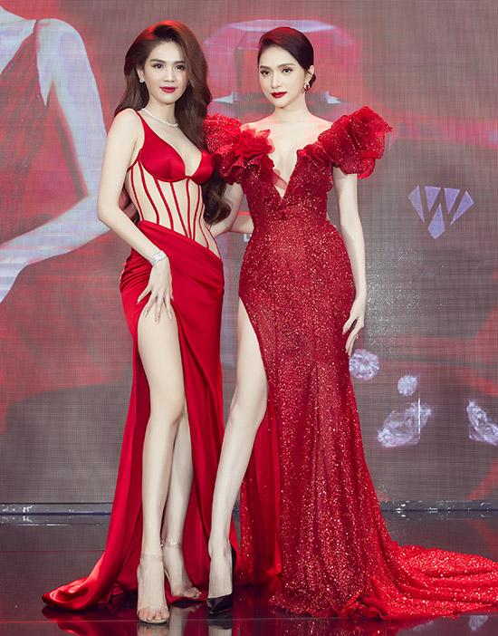 Hoa hậu Hương Giang trở thành gương mặt đại diện một dòng sản phẩm viên uống trắng da do công ty Ngọc Trinh kinh doanh, phân phối. Gần đây hai người đẹp rất thân thiết, thường xuyên tương tác trên mạng xã hội.
