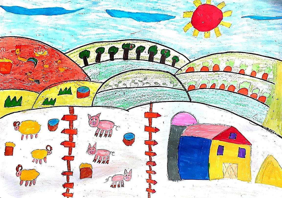 Vĩnh Tường (11 tuổi) ao ước có trang trại riêng cung cấp thực phẩm cho gia đình để mẹ không phải vất vả đi chợ mỗi ngày.