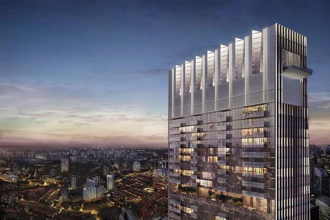 Căn Penthouse nằm trên tầng 62 đến 64 của Tháp Guoco, tòa nhà cao nhất Singapore. Ảnh: Times.