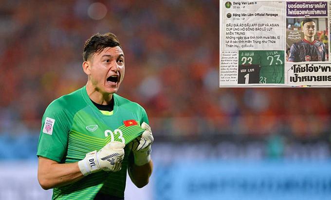 Văn Lâm được tờ Siam Sport viết bài khen ngợi.