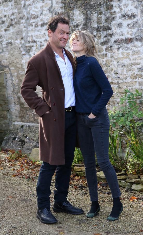 Dominic West đang nỗ lực hàn gắn hôn nhân với nhà thiết kế Catherine FitzGerald.