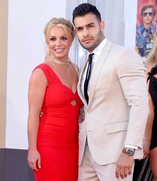 Britney Spears và Sam Asghari tại lễ ra mắt phim năm 2019. Ảnh: Mega.