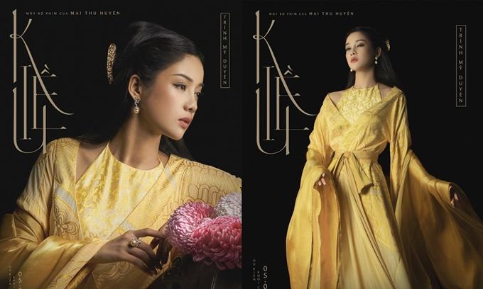 Hai poster nhân vật Thúy Kiều do Trình Mỹ Duyên đảm nhận.