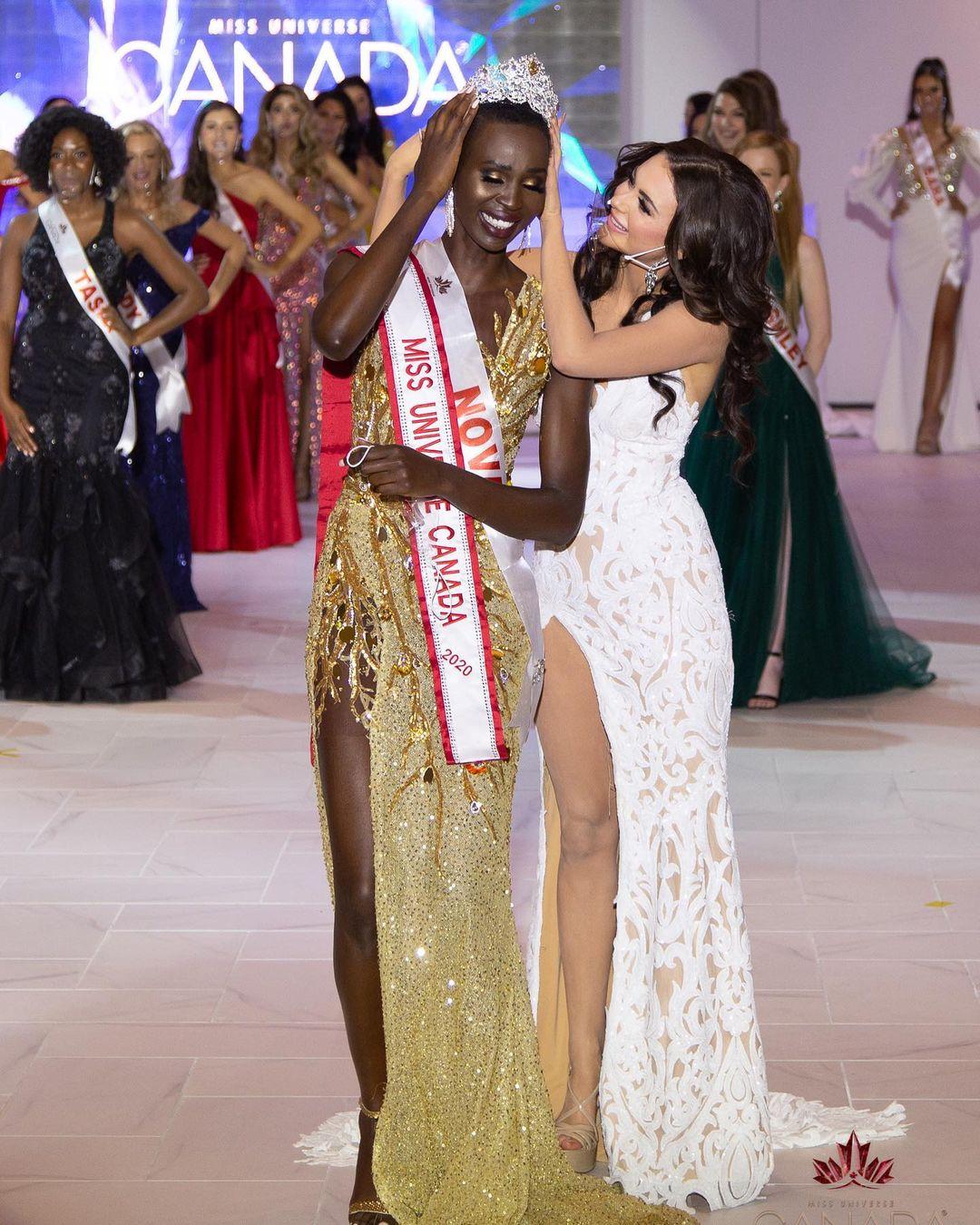 Nova được đương kim Miss Universe - Zozibini Tunzi - truyền cảm hứng và thúc đẩy tham gia cuộc thi sắc đẹp năm nay.