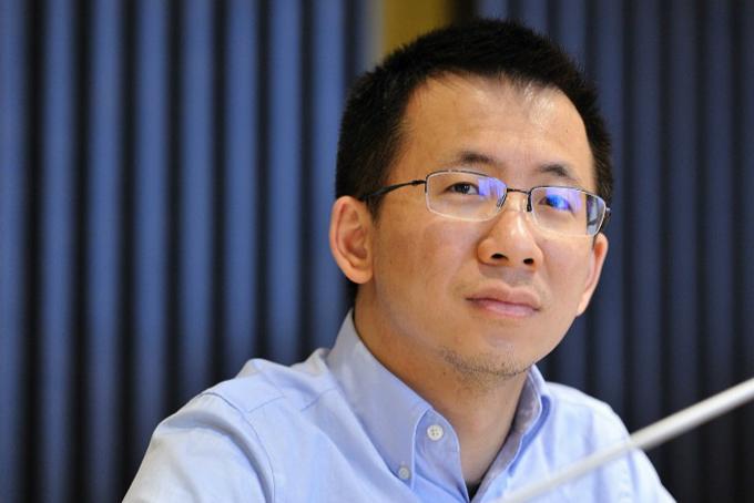Yiming Zhang, CEO ByteDance, tỷ phú tự thân dưới 40 tuổi giàu nhất Trung Quốc. Ảnh: China Daily.
