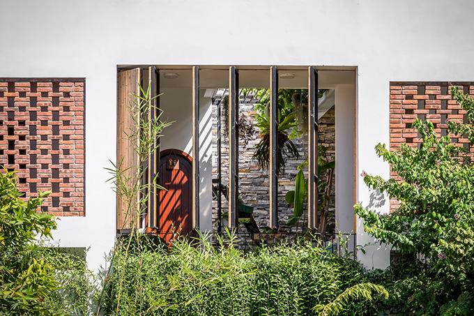 Nhà sử dụng vật liệu xanh, có tính bền vững như tre, gạch đỏ...