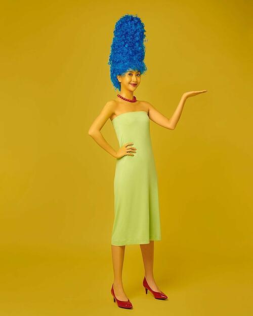 Quỳnh Anh Shyn nhận được nhiều lời khen dễ thương khi hóa thân thành Marge Simpson.