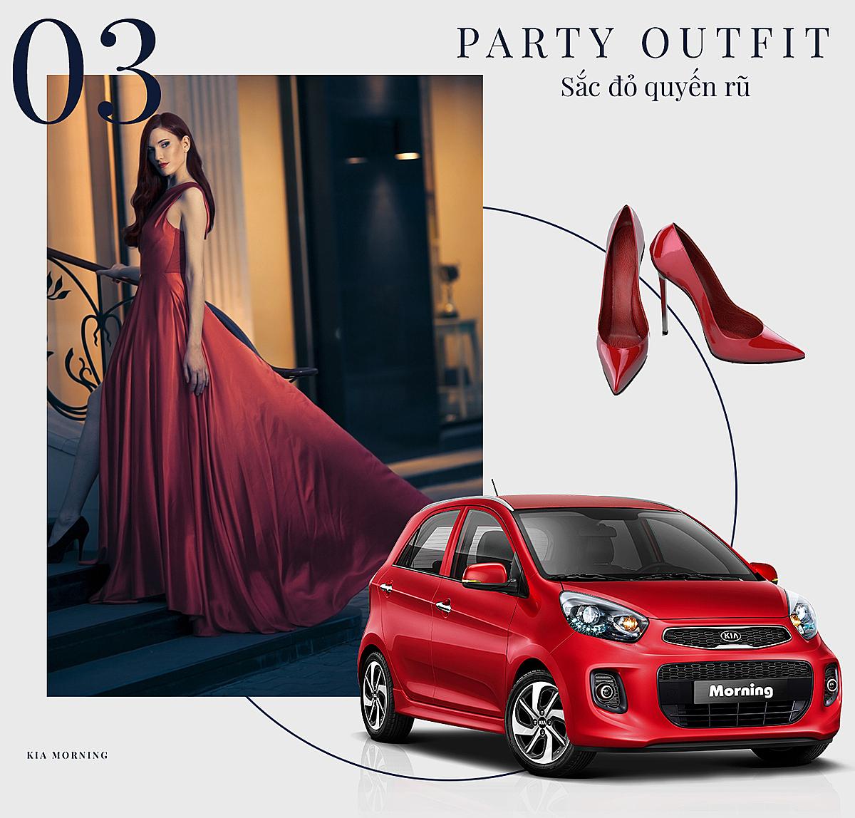 Trang phục và xe màu đỏ được nhiều cô nàng có tính cách mạnh mẽ lựa chọn.