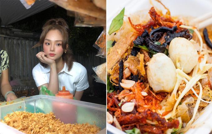 Tiệm bánh tráng trộn bờ kè Biên Hòa Miu Lê