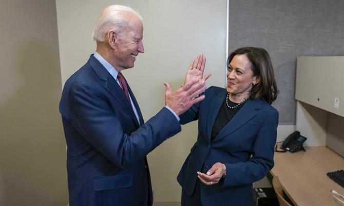 Tân tổng thống Joe Biden và Tân Phó Tổng thống Kamala Harris. Ảnh: AP.