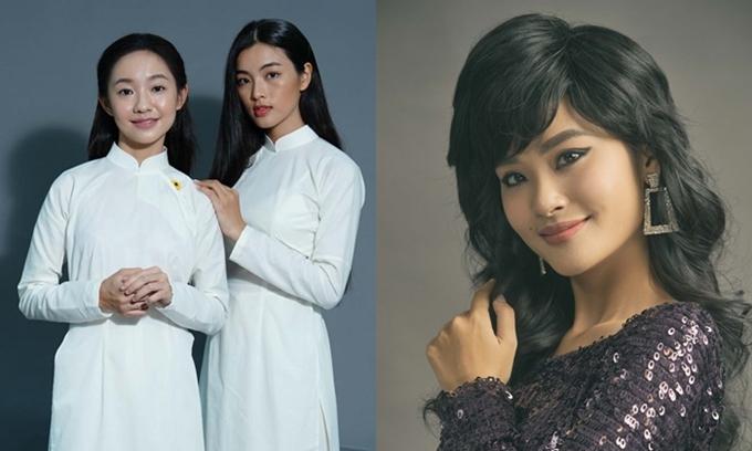 Các nàng thơ Dao Ánh, Bích Diễm và Thanh Thúy (từ trái qua) trên màn ảnh.
