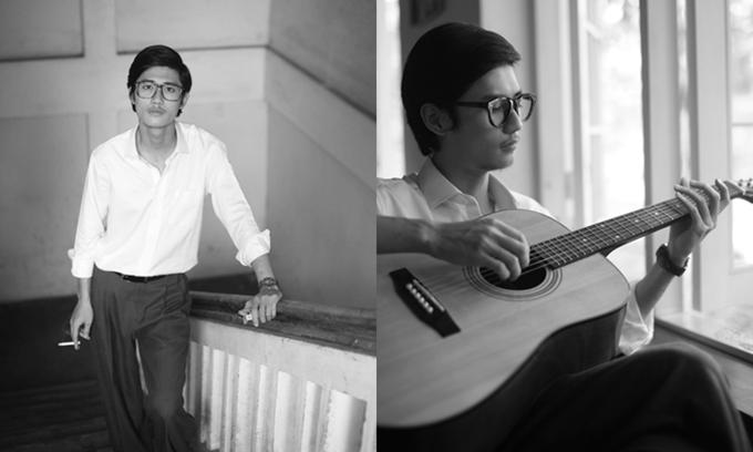 Avin Lu trong tạo hình nhạc sĩ Trịnh Công Sơn thời trẻ.