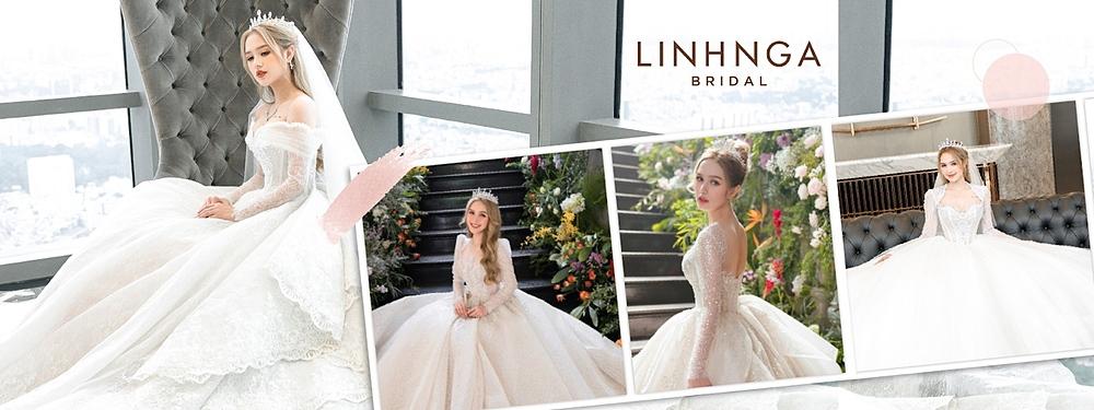 Hầu hết, các mẫu váy cưới của Xoài Non diện đều thể hiện đúng tinh thần Lọ Lem, bồng xòe và lộng lẫy.
