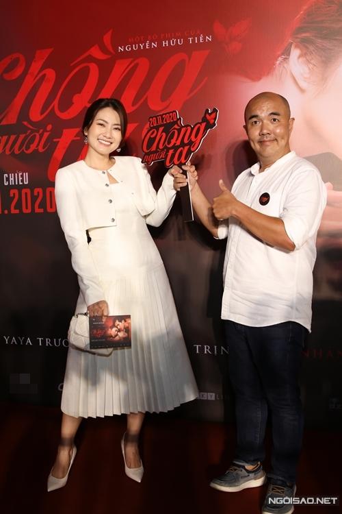 Diễn viên Ngọc Lan và nghệ sĩ hài Quốc Thuận.
