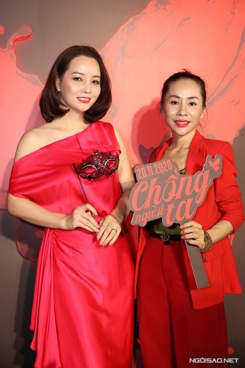 Diễn viên Mai Thu Huyền (trái).