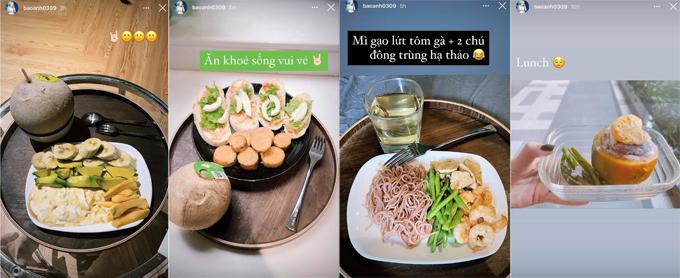 Bảo Anh chia sẻ thực đơn ăn uống để cải thiện sức khỏe, giữ gìn vóc dáng.