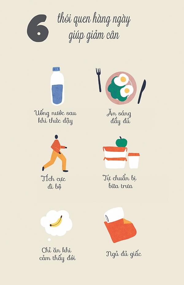 6 thói quen hàng ngày giúp giảm cân