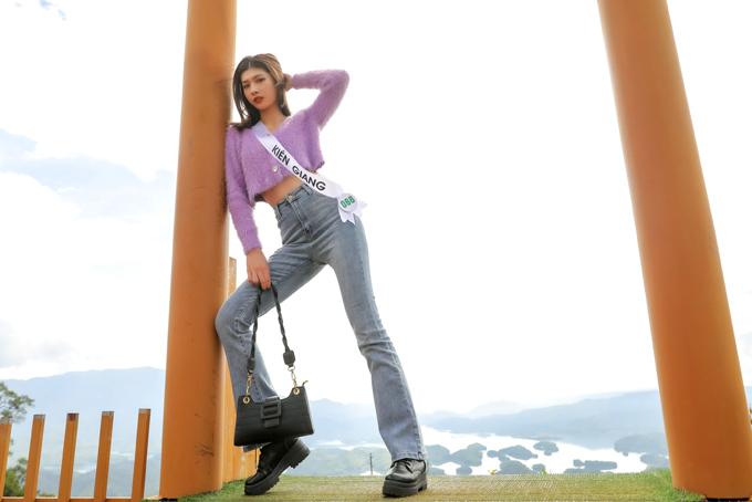 Lê Trần Bình An đến từ Kiên Giang hiện là người mẫu ảnh tự do nên khá chuyên nghiệp khi tạo dáng trước ống kính. Ngày 25/11 top 32 thi bán kết để chọn ra các cô gái xuất sắc tiếp tục tranh tài ở đêm chung kết diễn ra tối 28/11 tại thành phố Gia Nghĩa, tỉnh Đắk Nông.