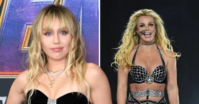Miley tri ân Britney trong ngày sinh nhật của mình.