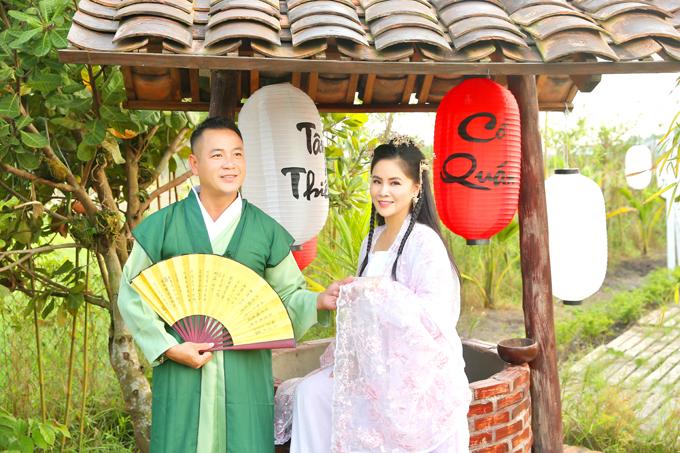 Bộ ảnh được thực hiện tại phim trường Tây Thiên Cổ Quán rộng hơn 1.600 m2 do Quyền Lộc đầu tư xây dựng ở Trảng Bàng, Tây Ninh.