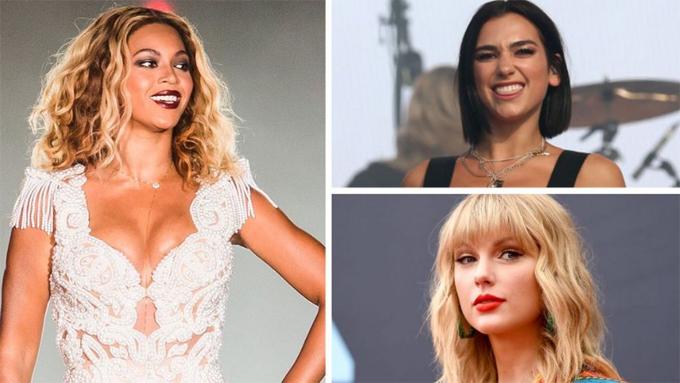 Beyonce, Taylor Swift, Dua Lipa dẫn đầu đề cử.